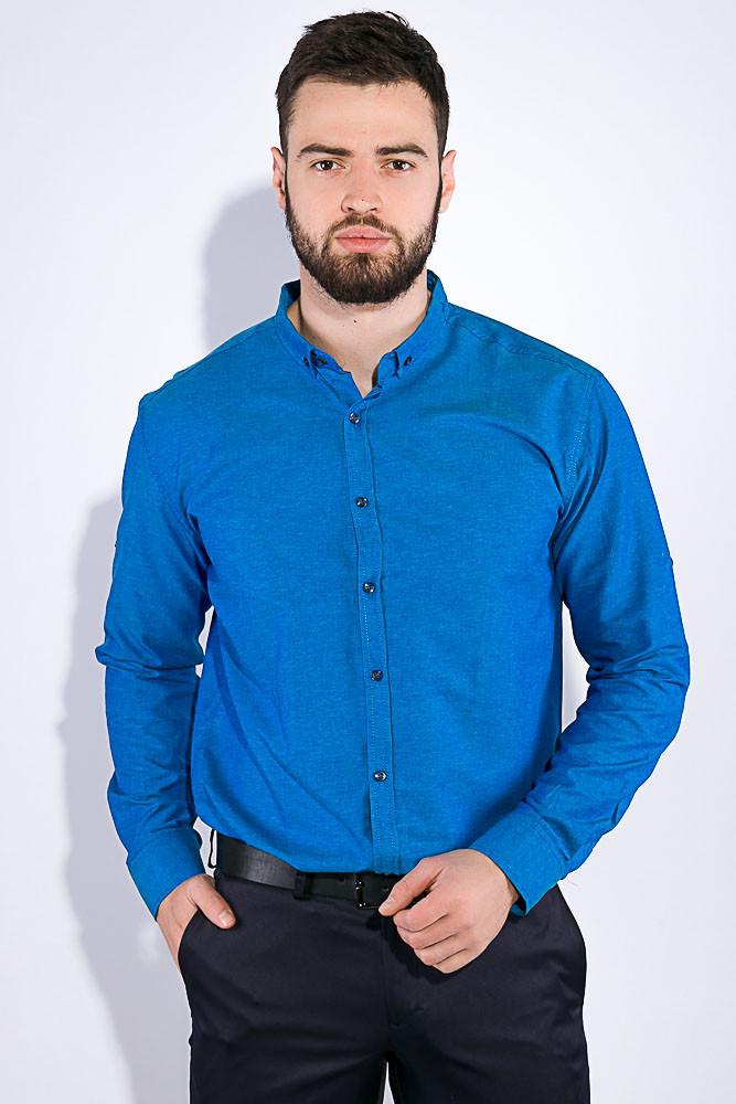 Рубашка мужская, однотонная 511F011-1 (Лазурный)