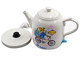 Електрочайник керамічний DOMOTEC MS-5051 | електричний чайник, фото 3