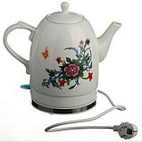Електрочайник керамічний DOMOTEC MS-5055   електричний чайник, фото 3