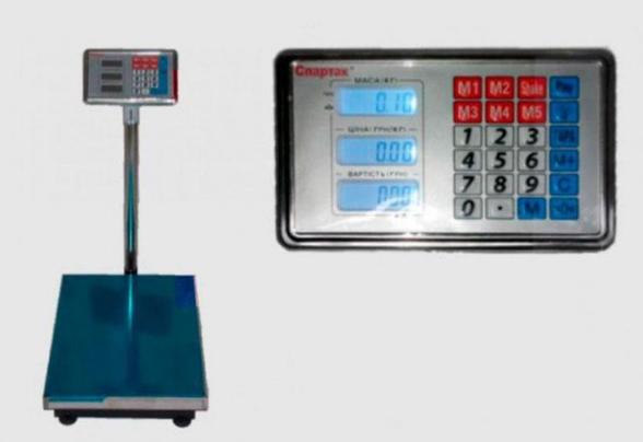 Электронные торговые весы ACS 300-350 кг 40*50 Fold Domotec 6V с железной головой