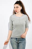 Джемпер женский с рукавом 3/4 436V016-1 (Светло-серый), фото 1