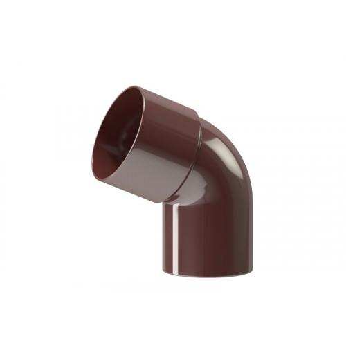 Коліно пластикової труби Profil Д=100мм, 60 градусів, колір коричневий