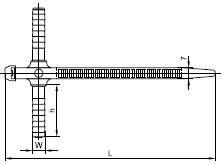 Дюбель с хомутом ХД 7х150 черный (50шт/упак) IEK