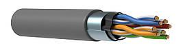 Кабель FTP, кат.5E 4x2х24AWG solid, 305м, серый