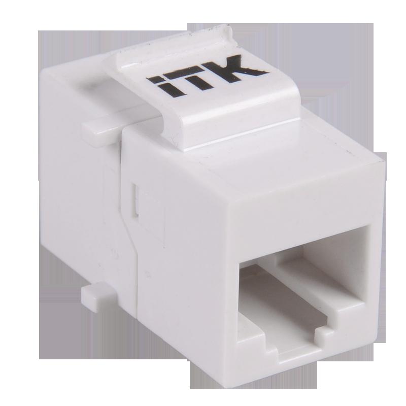 Прохідний адаптер RJ45-RJ45 кат.5e UTP тип Keystone Jack, ITK