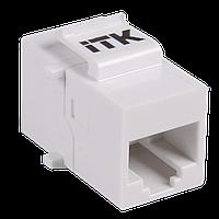 Проходной адаптер RJ45-RJ45 кат.5e UTP тип Keystone Jack, ITK