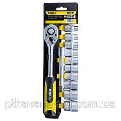 """Ключ-трещотка 1/2"""" с набором насадок и удлинителем 12шт CrV mid Sigma (6003701)"""