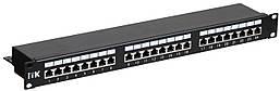 Патч-панель кат.5Е STP, 24 порта (Dual) 1U, ITK