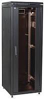 "Черный серверный шкаф 19"" ITK LN05-28U66-G LINEA N 28U 600х600мм"