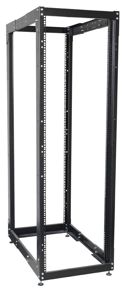 """Черная двухрамная стойка 19"""" 24U ITK LF05-24U68-2R 600x1000мм"""