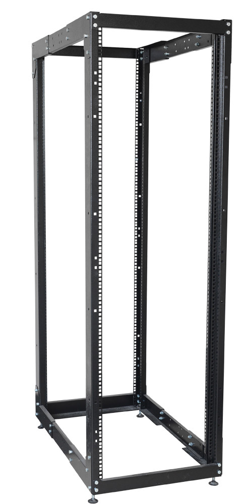 """Черная двухрамная стойка 19"""" 37U ITK LF05-37U68-2R 600x1000мм"""