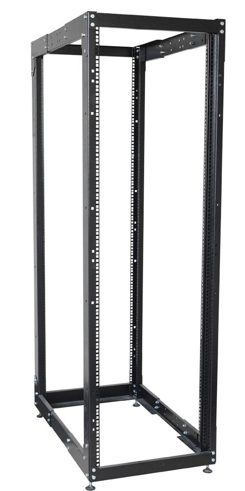 """Черная двухрамная стойка 19"""" 42U ITK LF05-42U68-2R 600x1000мм"""