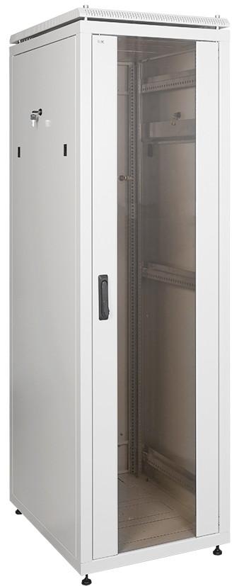 """Серый серверный шкаф 19"""" ITK LN35-28U66-G LINEA N 28U 600х600мм"""