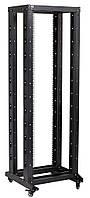 """Черная двухрамная стойка на роликах 19"""" 32U ITK LF05-32U66-2R 600x600мм, фото 1"""