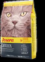 Josera Catelux 10 кг, корм с уткой и картофелем с эффектом выведения шерсти