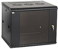 """Черный серверный шкаф 19"""" ITK LWR5-12U64-GF LINEA W 12U 600x450мм"""