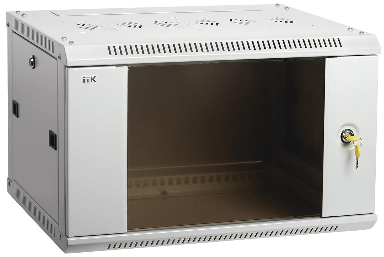 """Серый серверный шкаф 19"""" ITK LWR3-09U64-GF LINEA W 9U 600x450мм"""