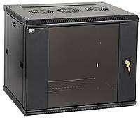 """Черный серверный шкаф 19"""" ITK LWR5-09U64-GF LINEA W 9U 600x450мм"""