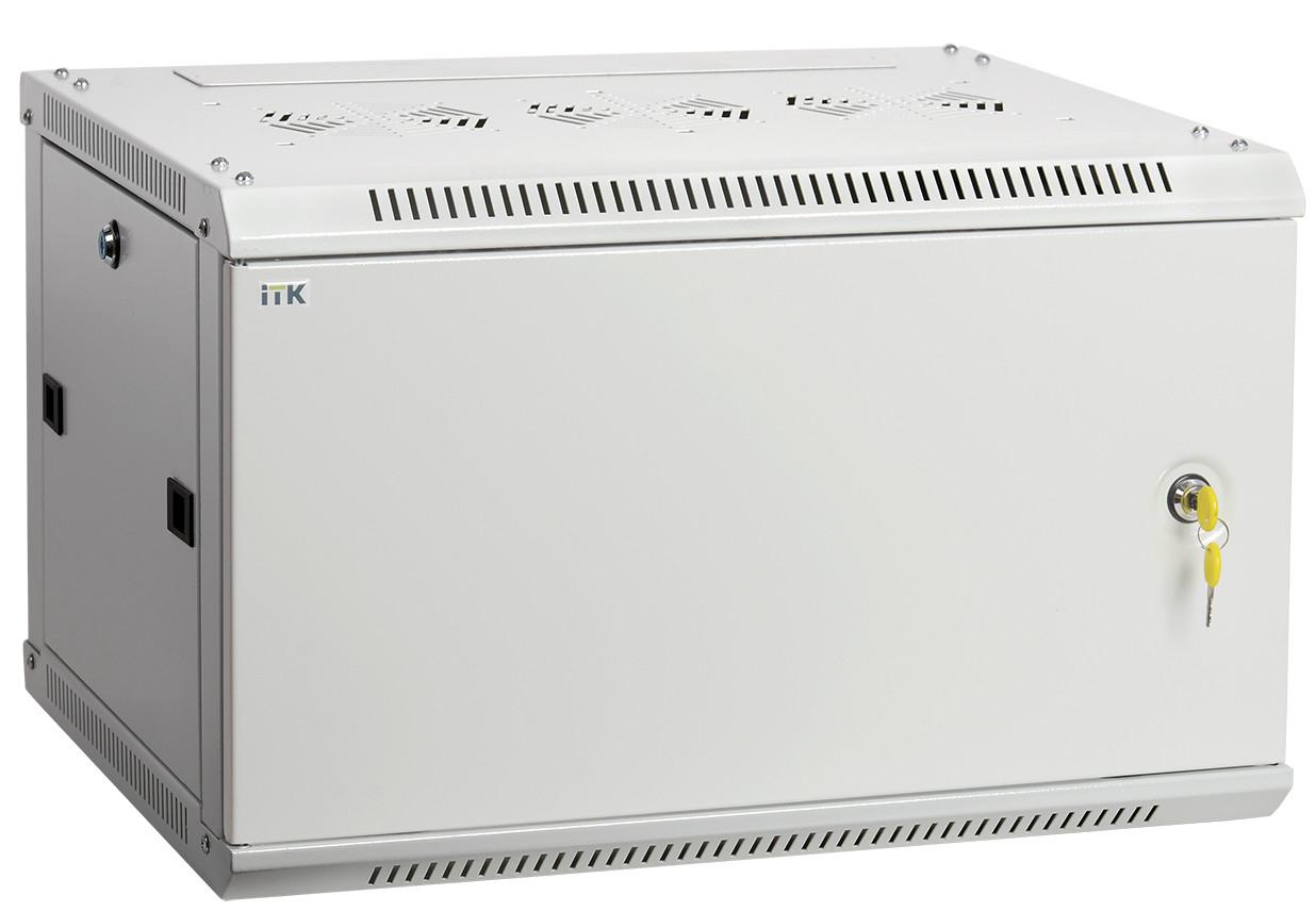 "Серый серверный шкаф 19"" ITK LWR3-18U66-MF LINEA W 18U 600x600мм"