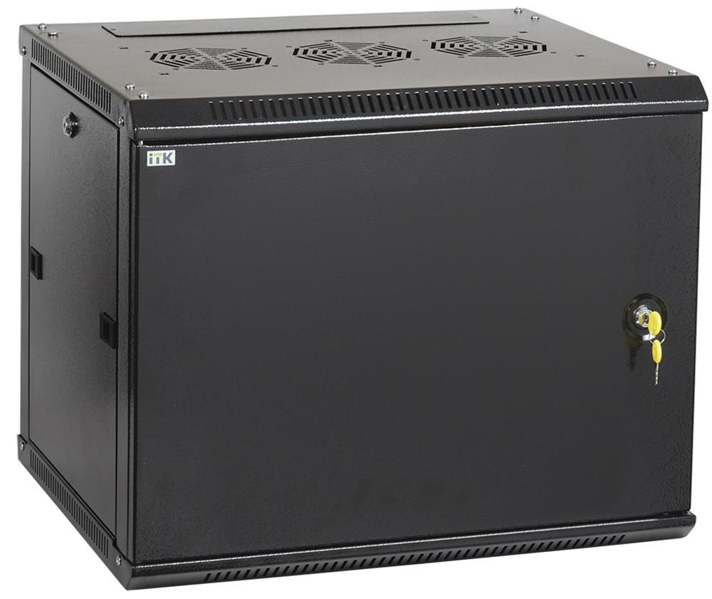 """Черный серверный шкаф 19"""" ITK LWR5-06U66-MF LINEA W 6U 600x600мм"""