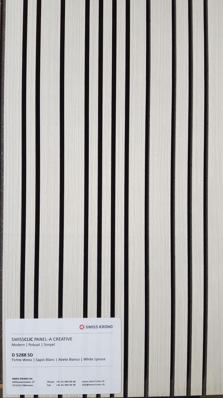 SWISS CLIC PANEL CREATIVE – D5288 BD White Spruce