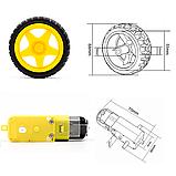 Мотор - редуктор + колесо для машинки робота, фото 5