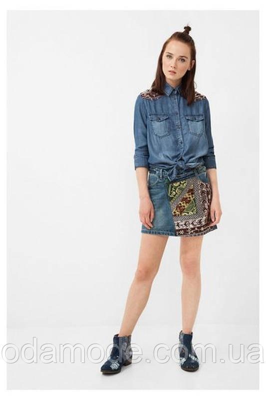 Юбка женская джинсовая миниDesigual