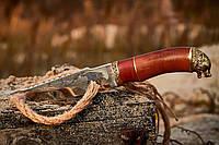 Нож охотничий Волк, РУЧНАЯ РАБОТА, производство Украина + кожаный чехол