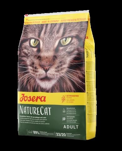 Josera NatureCat, 10кг беззерновой корм для кошек с чувствительным пищеварением