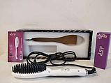 Электрическая расчёска-выпрямитель DSP G-10028 / Горячая расческа с керамическим покрытием, фото 5