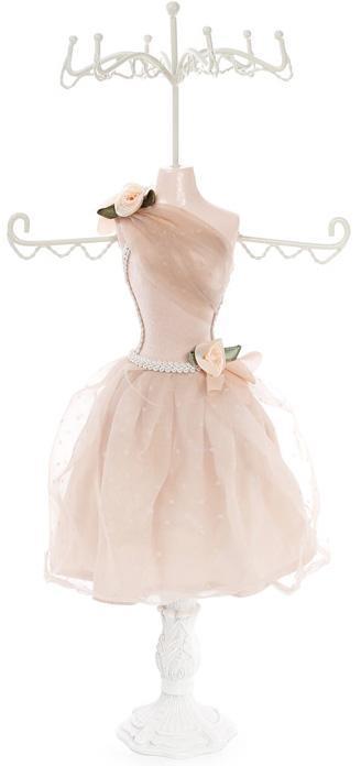 """Подставка для украшений """"Бежевое платье"""" 17.5х12.5х40.5см, подвеска"""