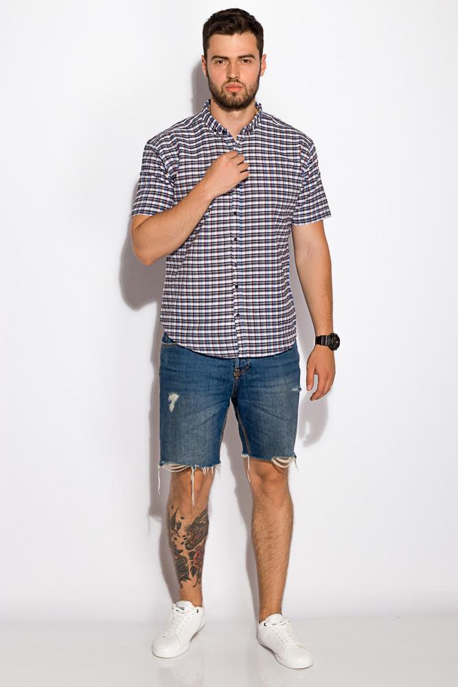 Рубашка прямого покроя 511F031 (Грифельно-голубой)
