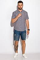 Рубашка прямого покроя 511F031 (Грифельно-голубой), фото 1