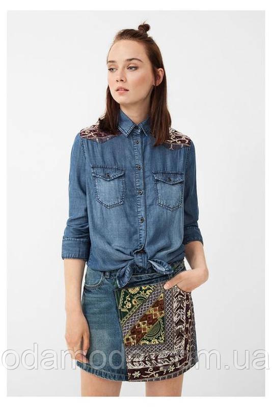 Рубашка женская котоновая  с вышивкой Desigual