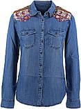Рубашка женская котоновая  с вышивкой Desigual, фото 2