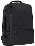 Рюкзак 1 відд. 43х31х14см чорний USB, Safari