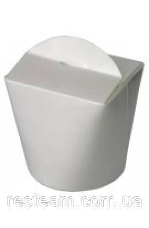 Коробка бумажная (лапша) ФЛТ 750мл белая 50/уп 500/ящ
