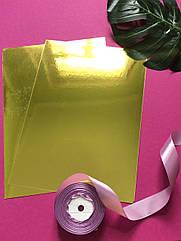 Картон зеркальный А4 250 г/м2, золото