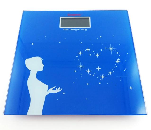 Весы квадратные напольные домашние ACS CK MS 1604 до 180 кг с датчиком температуры