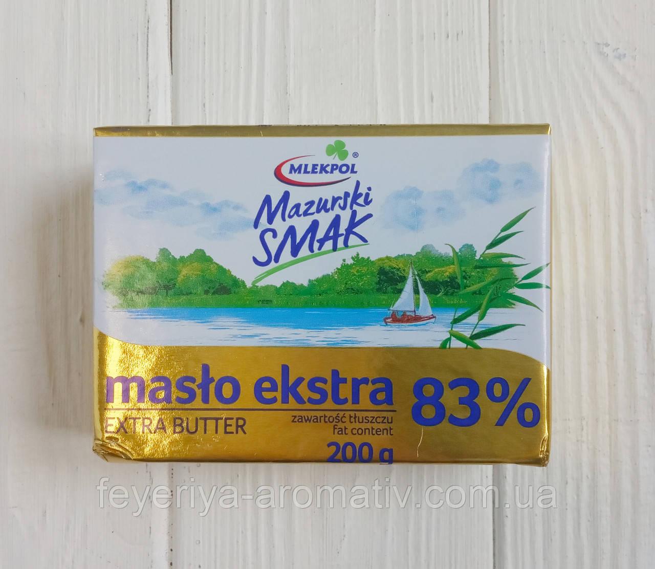 Сливочное масло Mlekpol Mazurski SMAK 83% 200гр (Польша)
