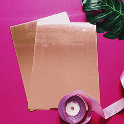 Картон зеркальный А4 250 г/м2 розовое золото