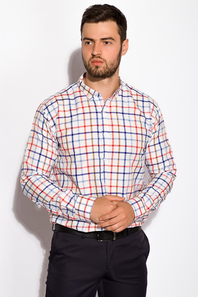 Рубашка в клетку 511F047 (Красно-синий)