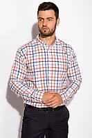 Рубашка в клетку 511F047 (Красно-синий), фото 1