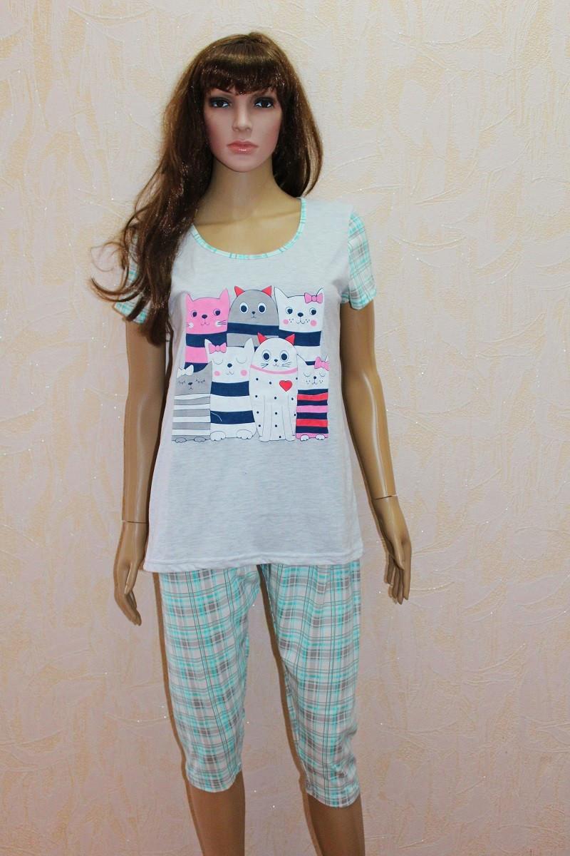 Пижама футболка с бриджами