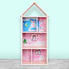 Домик-стеллаж-полка для игрушек и книг H 2020-4-1 Единорог розовый, фото 2