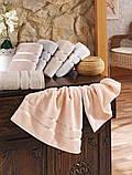 Полотенце  махровое Hobby 70х140, бежевое,  560 г/м², фото 4