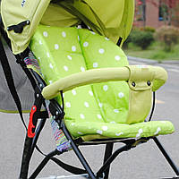 Вкладыш в коляску, вкладыш в стул для кормления. Зеленый