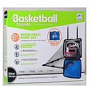 Баскетбольное кольцо MR 0071 на ремнях, щит, кольцо, мяч, сетка, в сумке, фото 3