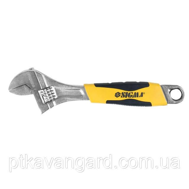 Ключ разводной 300мм CrV (обрезиненная рукоятка) Sigma (4101041)