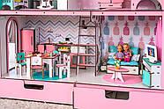 """""""ЛЮКС"""" кукольный домик NestWood для Барби, без мебели, розовый, фото 6"""